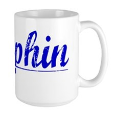 Dauphin, Blue, Aged Mug