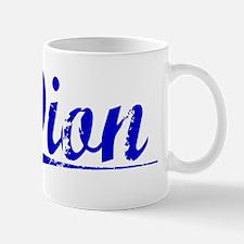 Dion, Blue, Aged Small Small Mug