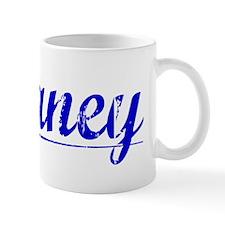 Delaney, Blue, Aged Mug