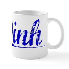 Dinh, Blue, Aged Mug