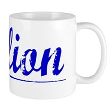 Dillion, Blue, Aged Mug