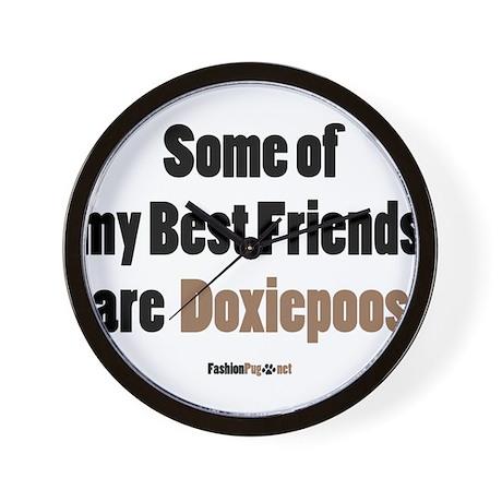 Doxiepoo dog Wall Clock