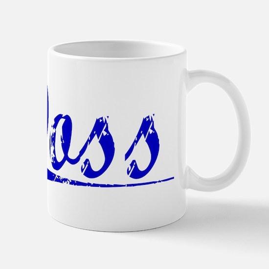 Doss, Blue, Aged Mug