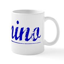 Domino, Blue, Aged Mug