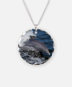 Bottlenose dolphin Necklace Circle Charm