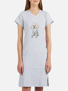 Poodle - Min (W) Women's Nightshirt