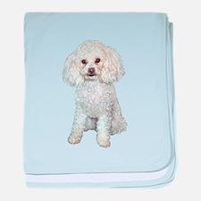 Poodle - Min (W) baby blanket