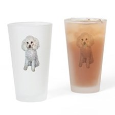 Poodle - Min (W) Drinking Glass