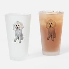 Poodle - Min (W) Drinking Glass