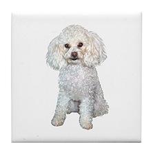 Poodle - Min (W) Tile Coaster