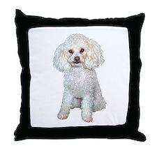 Poodle - Min (W) Throw Pillow
