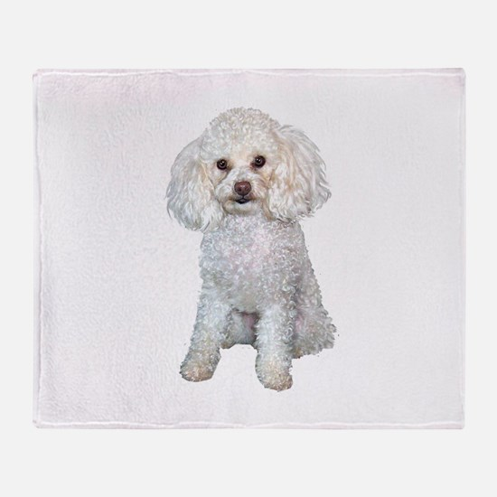 Poodle - Min (W) Throw Blanket