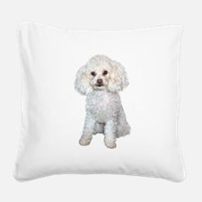 Poodle - Min (W) Square Canvas Pillow