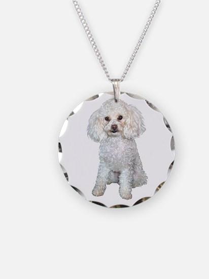 Poodle - Min (W) Necklace Circle Charm