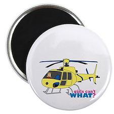 Girl Helicopter Pilot Magnet