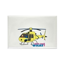Girl Helicopter Pilot Rectangle Magnet