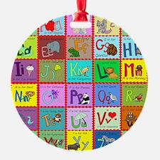 alphabet soup creations Ornament