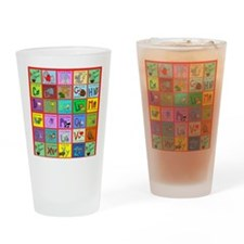 alphabet soup creations Drinking Glass
