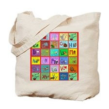 alphabet soup creations Tote Bag
