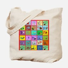 alphabet soup creations Tote Bag