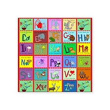 "alphabet soup creations Square Sticker 3"" x 3"""