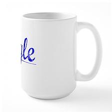 Engle, Blue, Aged Ceramic Mugs