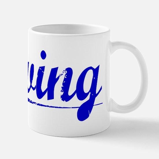 Erving, Blue, Aged Mug