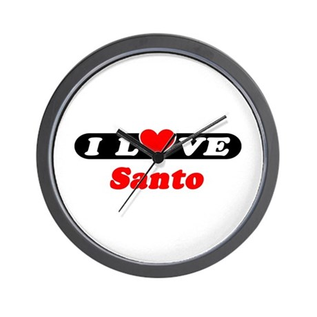 I Love Santo Wall Clock