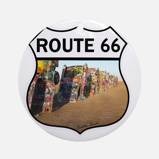 Route 66 - Cadillac Ranch Round Ornament