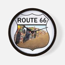 Route 66 - Cadillac Ranch Wall Clock