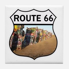 Route 66 - Cadillac Ranch Tile Coaster