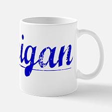 Flanigan, Blue, Aged Mug