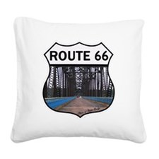 Route 66 - Old Chain of Rocks Square Canvas Pillow