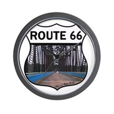 Route 66 - Old Chain of Rocks Bridge Wall Clock