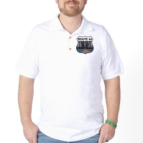 Route 66 - Old Chain of Rocks Bridge Golf Shirt