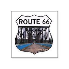 """Route 66 - Old Chain of Roc Square Sticker 3"""" x 3"""""""