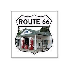 """Route 66 - Amblers Texaco G Square Sticker 3"""" x 3"""""""