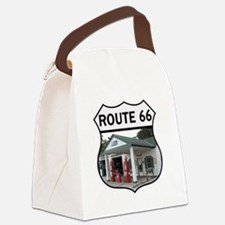 Route 66 - Amblers Texaco Gas Sta Canvas Lunch Bag