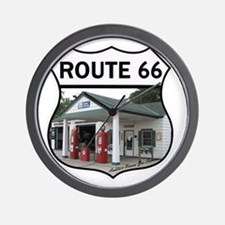 Route 66 - Amblers Texaco Gas Station - Wall Clock