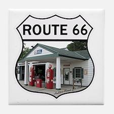 Route 66 - Amblers Texaco Gas Station Tile Coaster