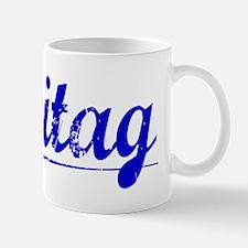 Freitag, Blue, Aged Mug