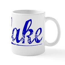 Flake, Blue, Aged Mug