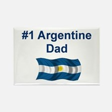 #1 Argentine Dad Rectangle Magnet
