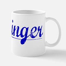 Flickinger, Blue, Aged Mug