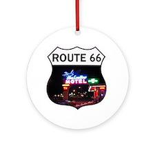 Route 66 - Blue Swallow Motel, Tucu Round Ornament