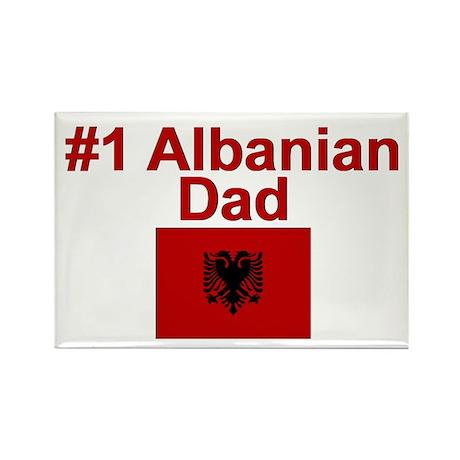 #1 Albanian Dad Rectangle Magnet