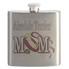 Airedale Terrier Mom Flask