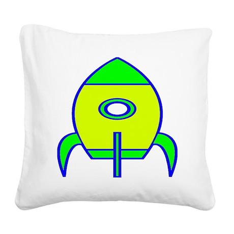 Rocket Square Canvas Pillow
