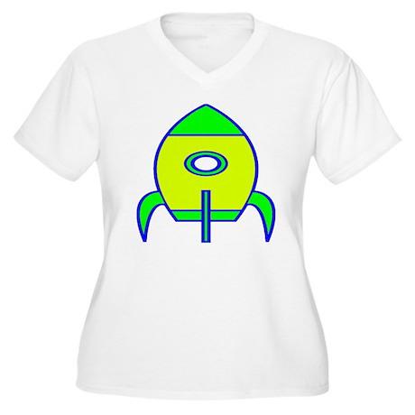 Rocket Women's Plus Size V-Neck T-Shirt