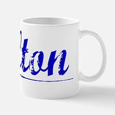 Fulton, Blue, Aged Mug